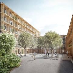 Hagmannareal Residential Building: Condomínios  por Natalia Bencheci