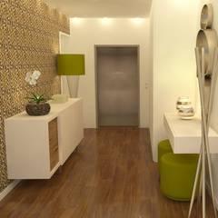 الممر والمدخل تنفيذ Casactiva Interiores , حداثي خشب Wood effect