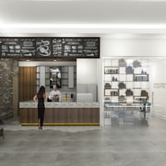 Coffee Shop Brico:  Gedung perkantoran by Desain Konstruksi Arsitektur