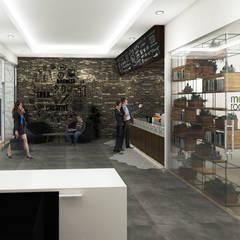 Lobby Brico Share Office:  Gedung perkantoran by Desain Konstruksi Arsitektur