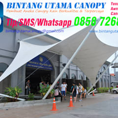 :  Gable roof by Bintang Utama Canopy,Modern Iron/Steel