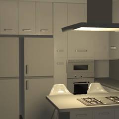 Cocina Moderna - Ilo: Muebles de cocinas de estilo  por Minimalistika.com,