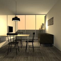 Sala Comedor Minimalista - Surco: Salas / recibidores de estilo  por Minimalistika.com,