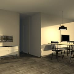 Sala Comedor Minimalista - Surco: Salas / recibidores de estilo minimalista por Minimalistika.com