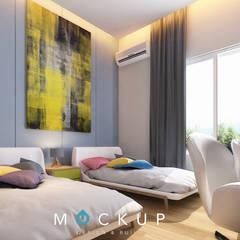 مدينتي - القاهرة الجديدة:  غرفة نوم تنفيذ  Mockup studio, حداثي