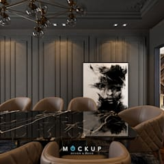 التجمع الاول - القاهرة الجديدة:  غرفة السفرة تنفيذ  Mockup studio