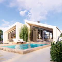 Проект частного дома с ландшафтным дизайном участка в Севастополе: Tерраса в . Автор – Pohalchuk&Co
