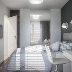 Projekt mieszkania 50m2: styl , w kategorii Sypialnia zaprojektowany przez hexaform