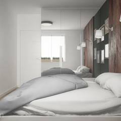 Mieszkanie 60 m2: styl , w kategorii Sypialnia zaprojektowany przez hexaform