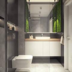 Mieszkanie 60 m2: styl , w kategorii Łazienka zaprojektowany przez hexaform