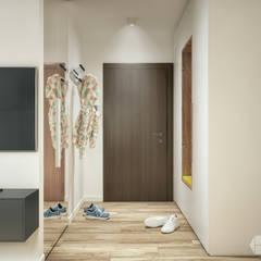 Mieszkanie 60 m2: styl , w kategorii Korytarz, przedpokój zaprojektowany przez hexaform