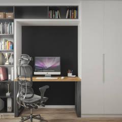 Mieszkanie 60 m2: styl , w kategorii Domowe biuro i gabinet zaprojektowany przez hexaform