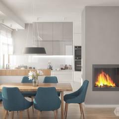 Projekt domu: styl , w kategorii Jadalnia zaprojektowany przez hexaform