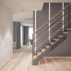 Projekt domu: styl , w kategorii Korytarz, przedpokój zaprojektowany przez hexaform