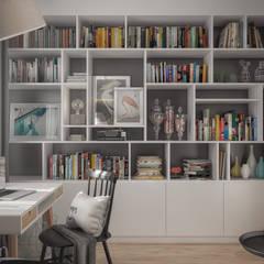 Projekt domu: styl , w kategorii Domowe biuro i gabinet zaprojektowany przez hexaform