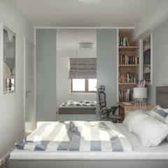 Mieszkanie 48 m2: styl , w kategorii Sypialnia zaprojektowany przez hexaform
