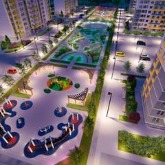 Проект благоустройства двора жилого комплекса в Ижевске: Сады в . Автор – Pohalchuk&Co