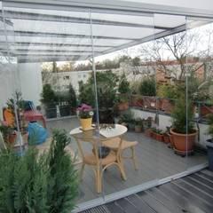 Überdachung Dachterrasse:  Terrasse von Montage & Design Gunter Uhlig