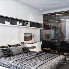 Thiết kế căn hộ Landmark 6 Vinhomes Central Park - Phong cách hiện đại:  Phòng ngủ by ICON INTERIOR