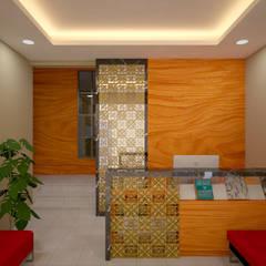 Proposal Desain Kantor Para Peneliti Independent - Pejaten . Jakarta Selatan: Ruang Kerja oleh Vaastu Arsitektur Studio,
