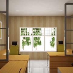 Ruang Komisaris:  Ruang Kerja by Vaastu Arsitektur Studio