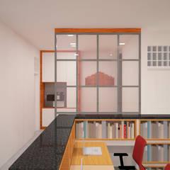 Ruang Peneliti Junior - Mushollah:  Ruang Kerja by Vaastu Arsitektur Studio