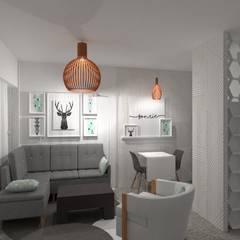 Diseño Monoambiente : Livings de estilo  por Arquimundo 3g.