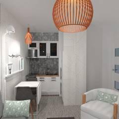 Diseño de Monoambiente en Buenos Aires: Cocinas de estilo  por Arquimundo 3g.