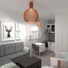 living : Livings de estilo  por Arquimundo 3g - Diseño de Interiores - Ciudad de Buenos Aires