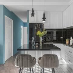 復古歐風X美式鄉村:  廚房 by 層層室內裝修設計有限公司