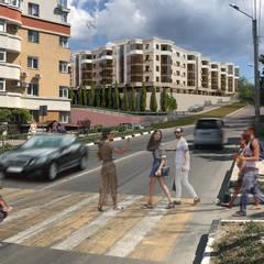 Проект жилого комплекса с подземным паркингом в Севастополе: Зимние сады в . Автор – Pohalchuk&Co, Классический