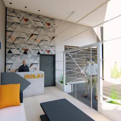 AMBIGUO: Pasillos y recibidores de estilo  por GóMEZ arquitectos