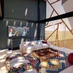 AMBIGUO: Salas de estilo  por GóMEZ arquitectos