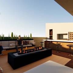 AMBIGUO: Terrazas de estilo  por GóMEZ arquitectos