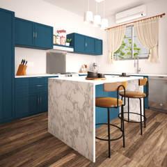 Casa Cozumel: Cocinas equipadas de estilo  por Escaleno Taller de Diseño
