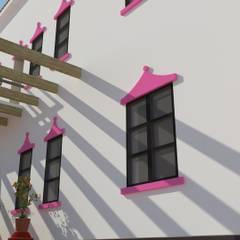 Hoteles de estilo  por Taller 1.0 Arquitectos