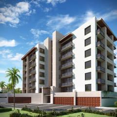 VILLA TOSCANA: Condominios de estilo  por Isaac Flores Arquitectura y Arte