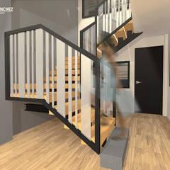 Vivienda de 3 pisos independientes: Escaleras de estilo  por Arquitecto Harvin Sanchez Areniz