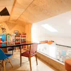 Habitat ouvrier: Bureau de style  par Elisabeth Manguin Architecte