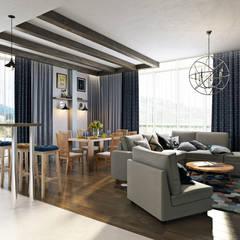 Северное сияние: Гостиная в . Автор – Zibellino.Design