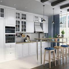 Северное сияние: Встроенные кухни в . Автор – Zibellino.Design