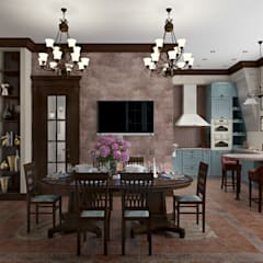 Dining room by Zibellino.Design, Mediterranean