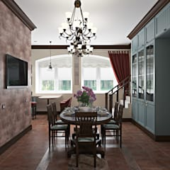 Мансарда: Столовые комнаты в . Автор – Zibellino.Design,
