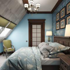 Мансарда: Спальни в . Автор – Zibellino.Design