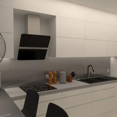 Kuchnia w apartamencie: styl , w kategorii Kuchnia na wymiar zaprojektowany przez Senola Architektura & Design