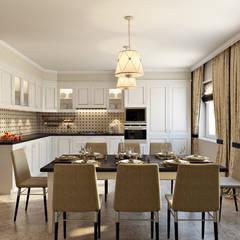 مطبخ ذو قطع مدمجة تنفيذ Zibellino.Design
