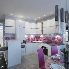 Свежесть: Встроенные кухни в . Автор – Zibellino.Design,