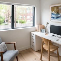 Designcubed Architects  - Refurbishment - Greenwich London:  Study/office by Designcubed
