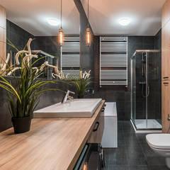 Baños de estilo  por KODO projekty i realizacje wnętrz
