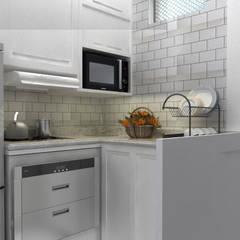 Cocinas equipadas de estilo  por Juliana clark arquitetura